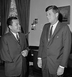 President Kennedy and Daniel Inouye