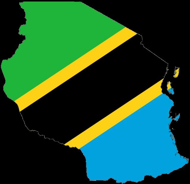 tanzania_flag_map