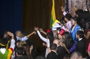 President Obama In Yangon Following ASEAN Summit