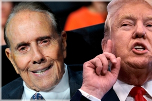 Photo by: Dennis Van Tine/STAR MAX/IPx 7/18/16 Donald Trump, Jr. and Bob Dole at The Republican National Convention. (Cleveland, Ohio)